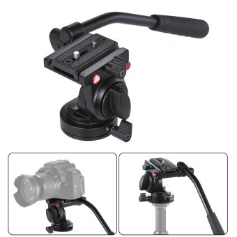 Handgrip Video Photography Fluid Drag Hydraulic Tripod Head for Canon Nikon DSLR Camera Camcorder Max. Load Capacity 5kg / 11Lbs Aluminum Alloy - Intl