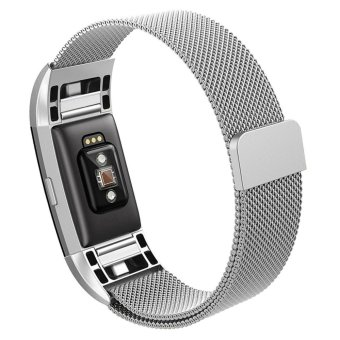 Hanlesi Band for Fitbit Charge 2 , Stainless Steel Bracelet Fitness Accessory Wristband for Fitbit Charge2 - intl