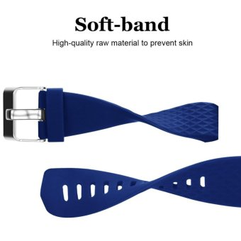 Hanlesi Fitbit Charge 2 Band, Diamond Pattern Soft TPU Durable Adjustable Replacement Sport Strap Band for Fitbit Charge 2 Smart watch Heart Rate Fitness Wristband - intl - 3
