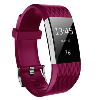 Hanlesi Fitbit Charge 2 Bands, Soft Silicone Replacement WatchbandSports Fitness Strap Band for Fitbit Charge 2 Wristband - intl