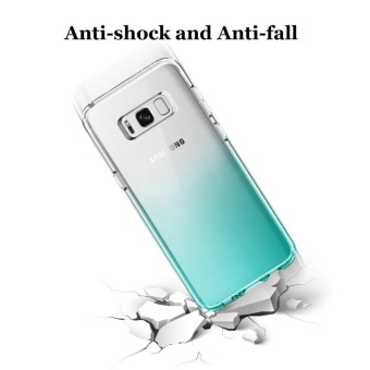 Hanlesi Galaxy S8+ Case, Gradient Stylish Soft TPU SiliconeTransparent [Anti-Slip] [Scratch-Resistant] Protective Cover forSamsung Galaxy S8 Plus 2017 - intl - 2