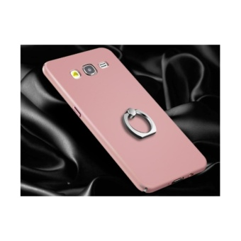 Hard 360 PC phone case PC With Metal Ring for Samsung Galaxy A52015/Rose gold - intl