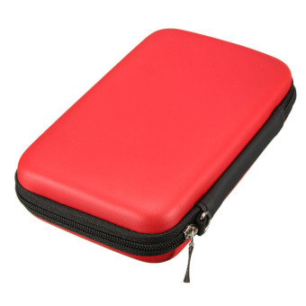 Hard Cover Pouch Bag Protection Sleeve for Nintendo 3DS XL/LL (Red)