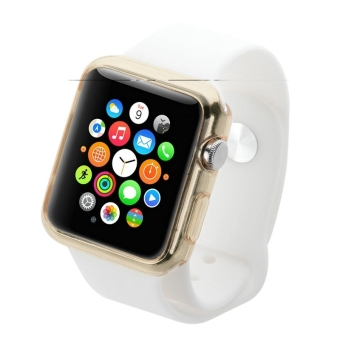 HAWEEL Slim Transparent Soft TPU Protective Case for Apple Watch38mm(Gold) - 4