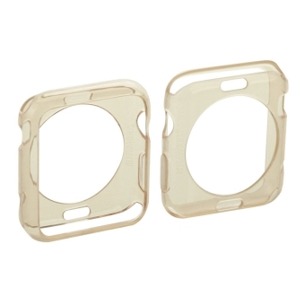 HAWEEL Slim Transparent Soft TPU Protective Case for Apple Watch38mm(Gold) - 2