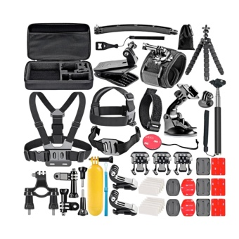HC 50 in 1 Action Camera Accessories Kit for GoPro Hero 5 4 3+ 3 21 with Carrying Case/Chest Strap/Octopus Tripod