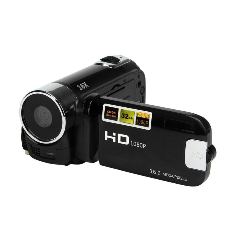 HD 1080P 16M 16X Digital Zoom Video Camcorder Camera DV Black -intl