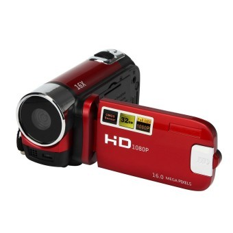 HD 1080P 16M 16X Digital Zoom Video Camcorder Camera DV Red