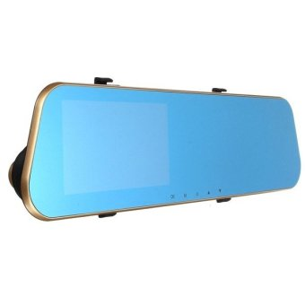 HD 1080P Dual Lens Car Dash Cam Rearview Mirror Camera Rear VideoRecorder DVR