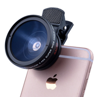 HD 37MM 0.45x Super Wide Angle Lens with 12.5x Super Macro Lens for Mobile Phone Lenses - intl