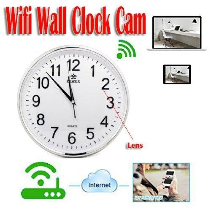 Philippines HD 720p WiFi Wall Clock Hidden Camera iPhone Android
