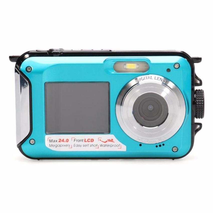 HD Digital Video Camera 24 million Pixel Digital 16X Zoom Dual LCDScreen Anti-shake Mini Camcorder 32GB TF card Storage - intl - 3