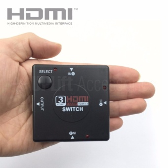 HDMI 1x3 3-Way 1080p Switch Splitter Hub for HDTV, PC, Xbox, PS2,PS3, PS4, TV/Cable Box