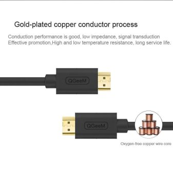 HDMI Cable HDMI to HDMI 1.4 cable 1080P 4k 3D 60FPS Cable for HD TVLCD Laptop PS3 Projector Computer Cable 1m - intl - 4