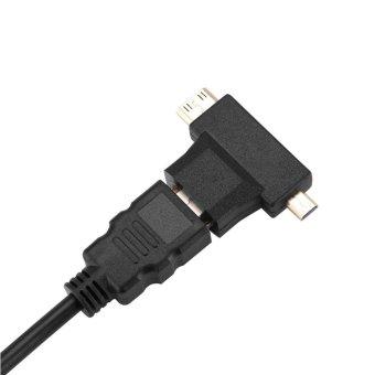 HDMI To VGA Adapter T-Type Micro+Mini HDMI Connector For Top BoxPS4 Xbox360 Black - intl - 5