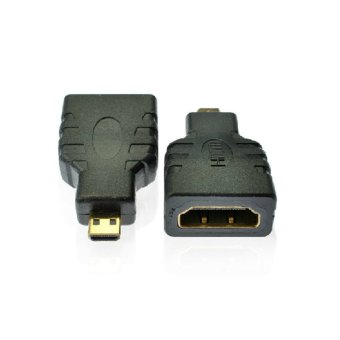 HDMI Type A Female to Micro HDMI D Male Gold Plated Adapter