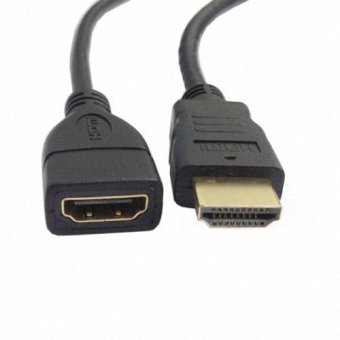 HDTV HDMI A type male to hdmi Female extension cable 50cm GoldConnector
