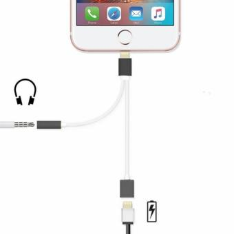 Headphone Jack Adapter with iOS Cable Port for Apple iPhone 7(Black) Price Philippines
