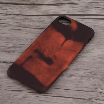 Heat Thermal Sensor Discoloration Soft PU Phone Case Cover Skin foriPhone 7(Black) - intl