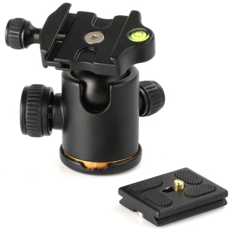 Heavy Duty Ball Quick Release Plate For Monopod Tripod Slider RailCamera Canon Nikon Pentax