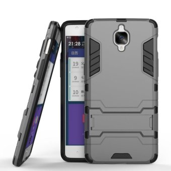 Heavy Duty Dual Layer Drop Protection Shockproof Armor Hybrid SteelStyle Protective Cover Case with Self Stand for OnePlus 3T /OnePlus 3 - intl Price Philippines
