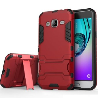 Heavy Duty Dual Layer Drop Protection Shockproof Armor Hybrid SteelStyle Protective Cover Case with Self Stand for Samsung Galaxy J2Prime - intl Price Philippines