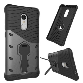 Heavy Duty Shockproof Dual Layer Hybrid Armor Defender Full Body Protective Cover with 360 Degree Rotating Kickstand Case for Xiaomi Redmi Note 4 - intl