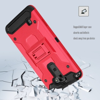 Heavy Duty Tri-Layer Armor Defender Protective Case Cover with BeltSwivel Clip and Kickstand Holster for for LG Stylus 2 Plus/Stylo 2Plus (MS550)/K530/K535 - intl - 5