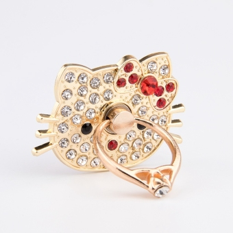 Hello Kitty crystal cat phone ring lazy support