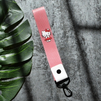 Hello Kitty cute pink halter key cap camera lanyard