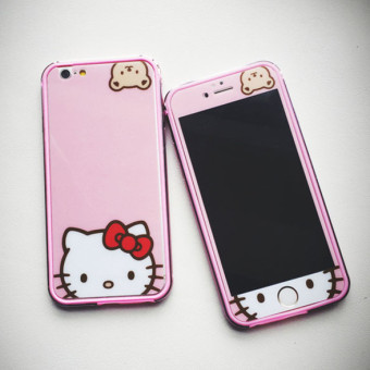 Hello Kitty iphone6/6plus cute Bear KT cat colored Protector