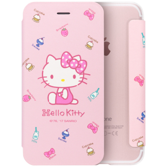 Hello Kitty iphone6/6plus flip Apple protective case phone case