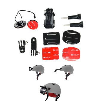 Helmet Front Mount Kit 3 way Pivot Arm Curved & Flat Base J-hook Mount GoPro 5S/5/4S/4/3+/3/2/1 Action Camera Accessories - intl