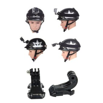 Helmet Strap Mount Quick J-hook Buckle Safety Tether Kit Set For GoPro 5S/5/4S/4/3+/3 XiaoMi Yi SJCAM Sport Action Camera Accessories - intl - 4