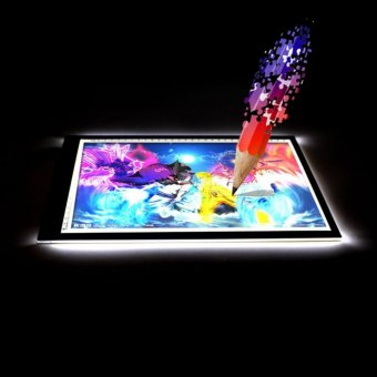HengSong Adjustable Brightness LED Tracing Light Board BrightArtist Tattoo Drawing Pad Table Stencil Display(Transparent)-EU -intl