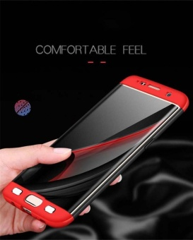 Hicase 360 Degree All-around Ultra Thin Full Body Coverage Protection Dual Layer Hard Slim Case For Samsung S7 edge Red - intl - 4