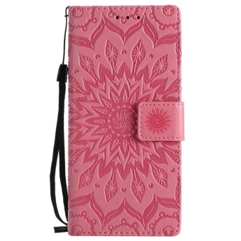 Hicase Anti-Scratch Protective Cover For Sony Xperia XA1 Sunflower Style PU Leather Flip Kickstand Wallet Case Pink