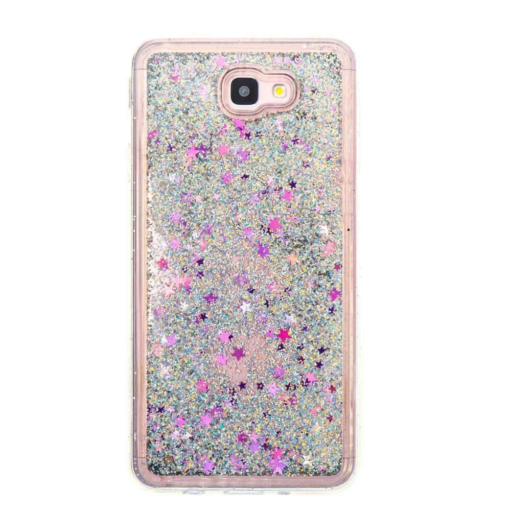 ... Hicase Flowing Liquid Floating Bling Glitter Sparkle Purple Stars Quicksand Soft TPU Case Cover For Samsung ...