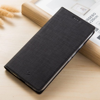 Hicase Slim PU Leather Flip Protective Magnetic Cover Case for Sony Xperia XA1 Ultra with Card Slot and Stand Feature-Black