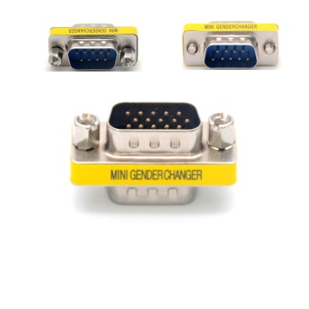 High Quality 1Pcs 9 Pin RS-232 DB9 Male To Male DB9 M-M SerialCable Gender Changer Coupler Connector Adapter Converter - intl
