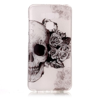 High Quality Skull TPU Soft Gasbag Back Case Cover For Asus Zenfone3 Max .