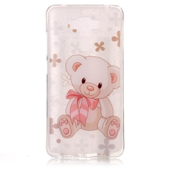 High Quality Toy Bear TPU Soft Gasbag Back Case Cover For Asus Zenfone 3 Laser ZC551KL Case - intl