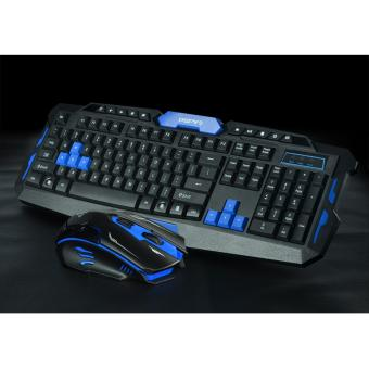 HK8100 2.4GHz Wireless gaming usb Keyboard Mouse combo Set