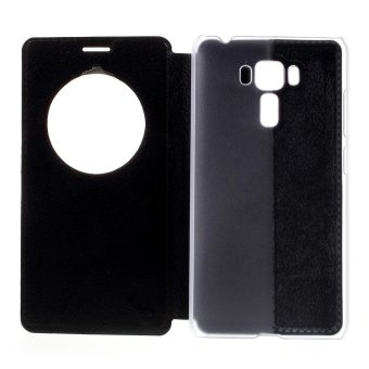 Hollow View Window Leather Case for Asus Zenfone 3 Laser ZC551KL - Black - intl - 4