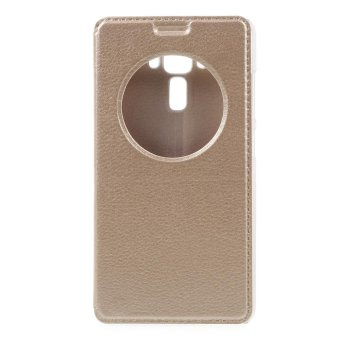 Hollow View Window Leather Stand Cover for Asus Zenfone 3 Laser ZC551KL - Gold - intl - 2