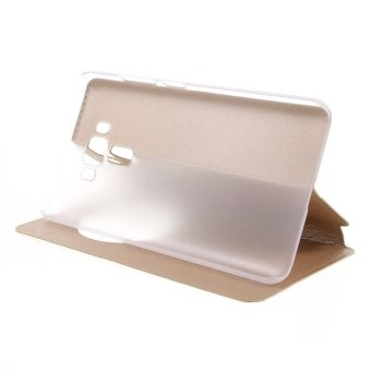 Hollow View Window Leather Stand Cover for Asus Zenfone 3 Laser ZC551KL - Gold - intl - 4