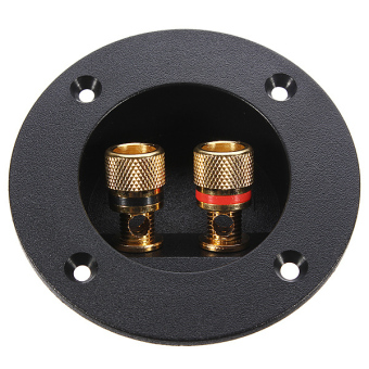 Home/Car Stereo Round Speaker Box Terminal Screw Cup Connector Subwoofer Plug