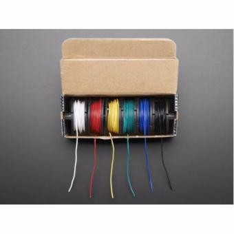 Hook-up Wire Spool Set - 22AWG Solid Core - 6 x 25 ft - 2