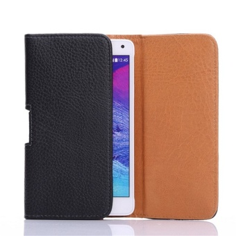Horizontal Leather Pouch Cover Holster Belt Clip Case with BeltClip for 5.5'' Phones - intl
