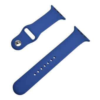 Hot Sales 42mm M/L 1:1 Size Strap Silicone Bands Original RubberWatchband For Apple Watch - Royal Blue